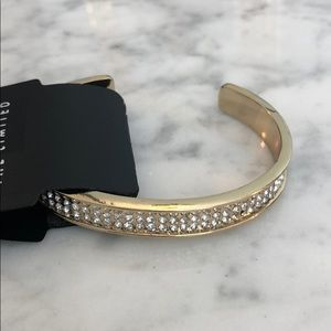 NWT The Limited Gold & Crystal Bangle